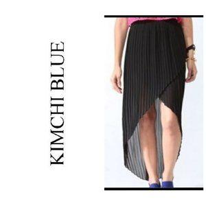 UO KIMCHI BLUE Pleated Chiffon High Low Skirt